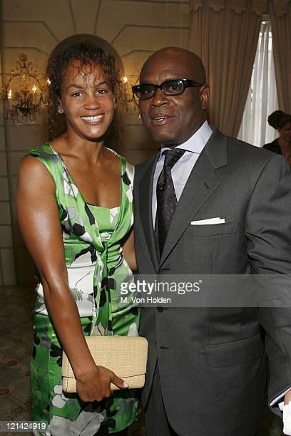 Erica Reid and LA Reid during Antonio ' LA Reid receives the UJA Federation of New York's Music Visionary Award at The Pierre Hotel Ballroom in...