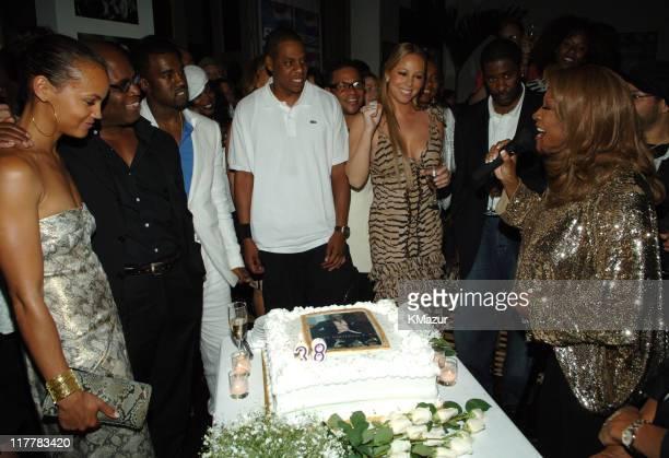 Erica Reid Antonio 'LA' Reid Kanye West JayZ Mariah Carey and Patti LaBelle