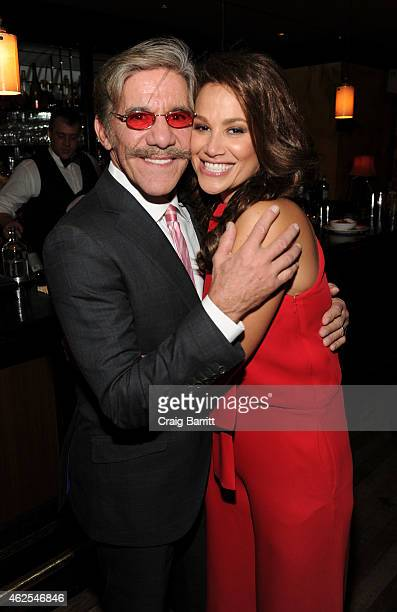 Erica Rivera and Geraldo Rivera attends Erica Rivera's 40th Birthday hosted by Geraldo Rivera at Monkey Bar on January 30 2015 in New York City