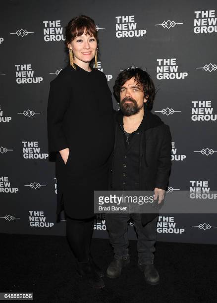 Erica Schmidt and Peter Dinklage attend the 2017 New Group gala at Tribeca Rooftop on March 6 2017 in New York City