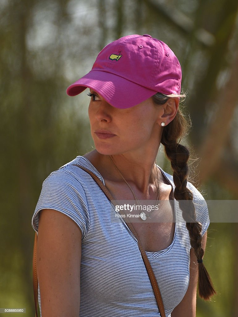 <a gi-track='captionPersonalityLinkClicked' href=/galleries/search?phrase=Erica+Stoll&family=editorial&specificpeople=14315803 ng-click='$event.stopPropagation()'>Erica Stoll</a>, fiancee of Rory McIlroy of Northern Ireland watches him play the 18th hole during the final round of the Omega Dubai Desert Classic at the Emirates Golf Club on February 7, 2016 in Dubai, United Arab Emirates.