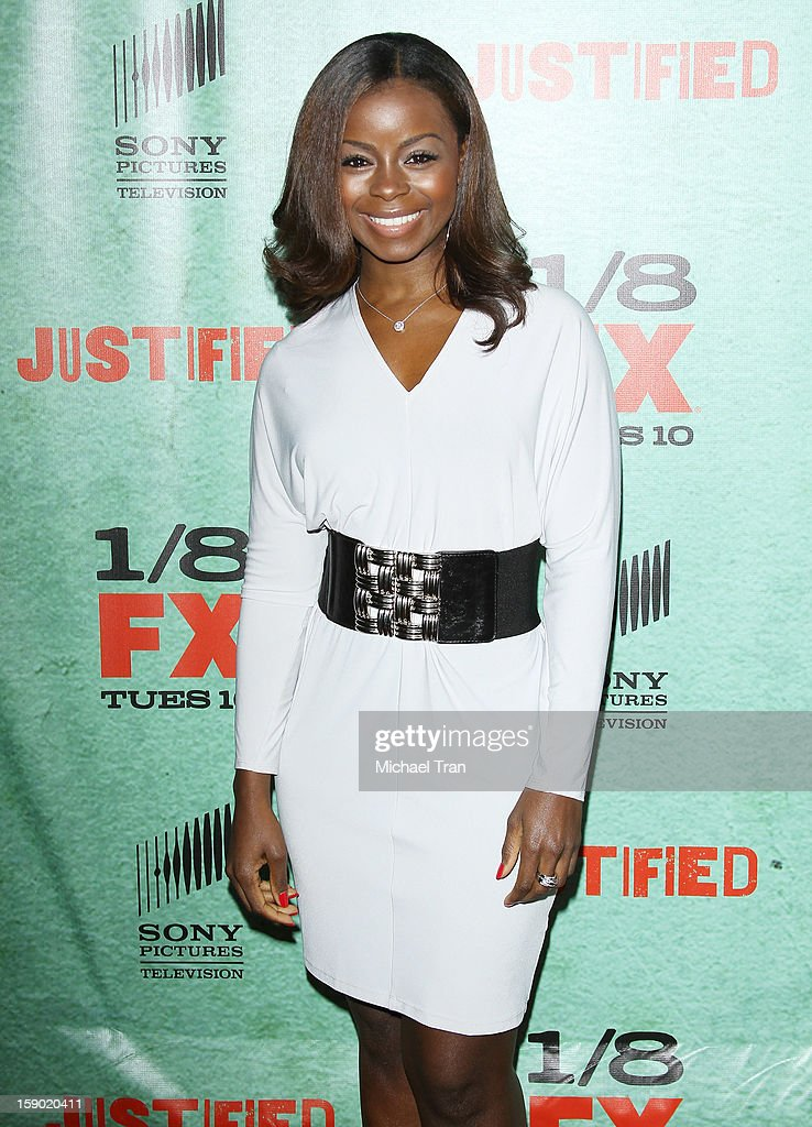 Erica Tazel arrives at season 4 premiere of FX's 'Justified' held at Paramount Theater on the Paramount Studios lot on January 5, 2013 in Hollywood, California.