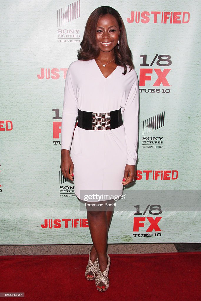 Erica Tazel attends the FX's 'Justified' season 4 premiere held at Paramount Theater on the Paramount Studios lot on January 5, 2013 in Hollywood, California.