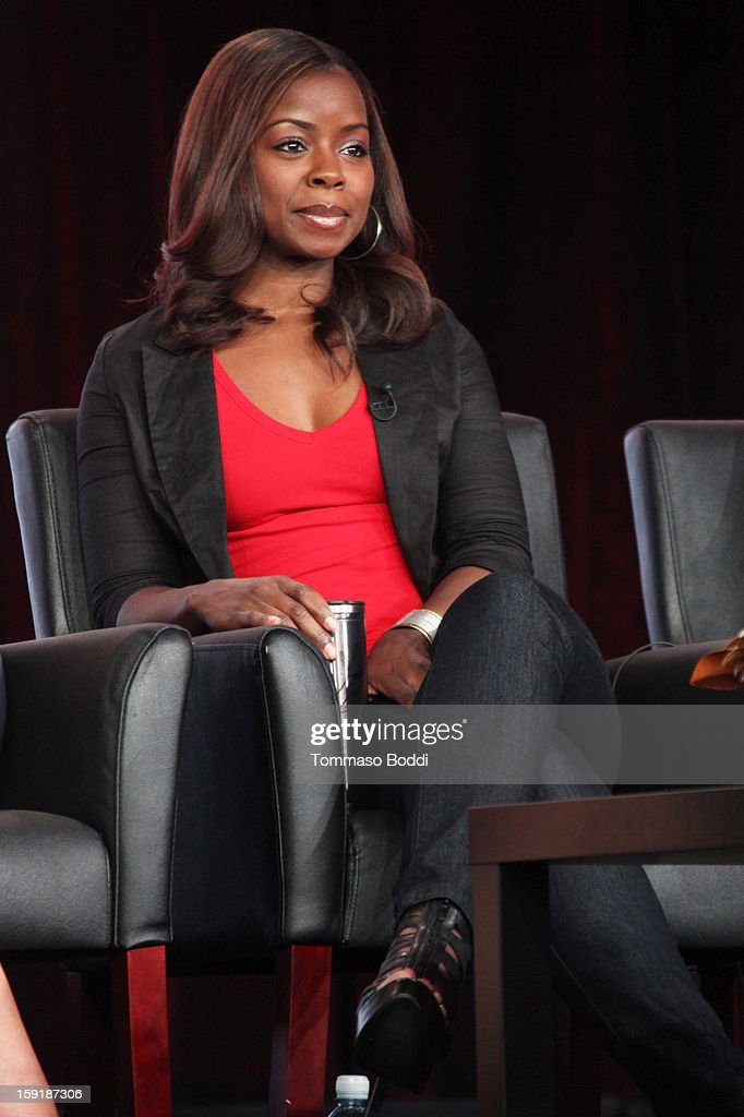 Erica Tazel of the show 'Justified' attends the TCA 2013 Winter Press Tour - FX panels held at The Langham Huntington Hotel and Spa on January 9, 2013 in Pasadena, California.