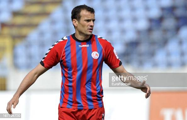 Erich Brabec of FK Senica in action during the Slovak Super Liga match between SK Slovan Bratislava and FK Senica held on April 27 2013 at the...