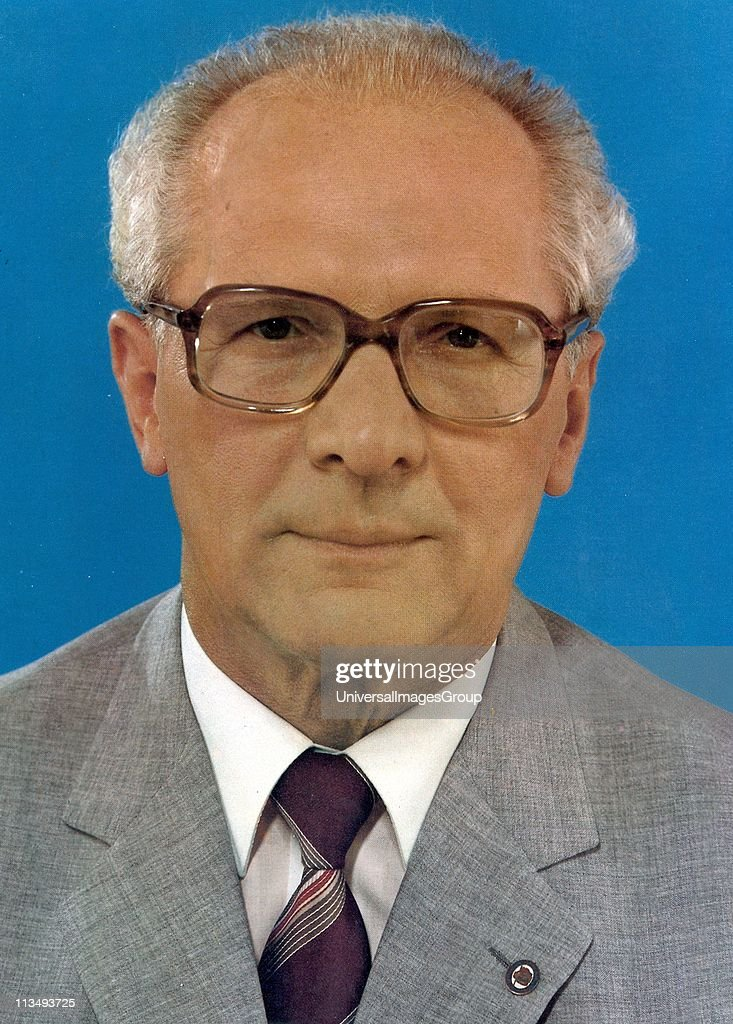 <a gi-track='captionPersonalityLinkClicked' href=/galleries/search?phrase=Erich+Honecker&family=editorial&specificpeople=209084 ng-click='$event.stopPropagation()'>Erich Honecker</a> 1912 - 1994, German Communist politician who led the German Democratic Republic (East Germany) from 1971 until 1989, circa 1975.