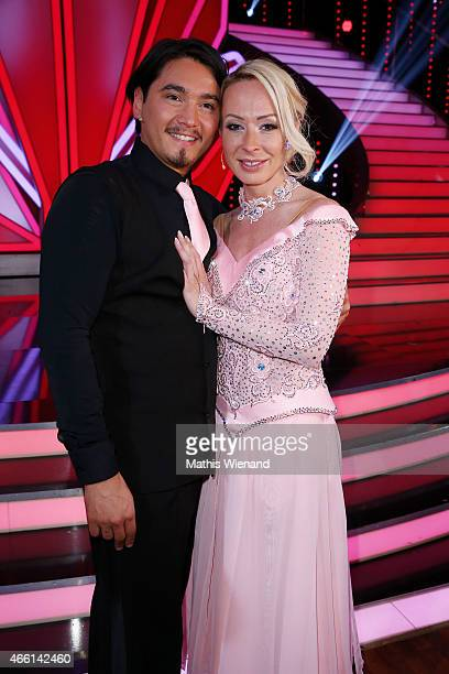 Erich Klann and Cora Schumacher attend the 1st show of the television competition 'Let's Dance' on March 13 2015 in Cologne Germany