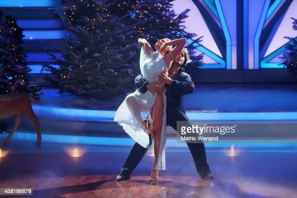 Erich Klann and Magdalena Brzeska attend the 'Let's Dance Let's Christmas' Show on December 20 2013 in Cologne Germany