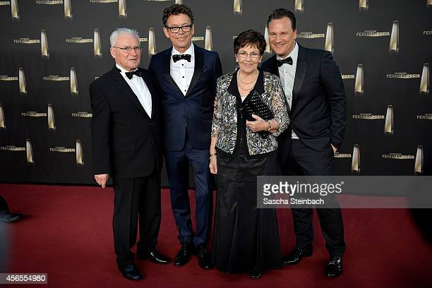 Erich Kretschmer Frank Mutter Marianne Kretschmer and Guido Maria Kretschmer arrive at the 'Deutscher Fernsehpreis 2014' at Coloneum on October 2...