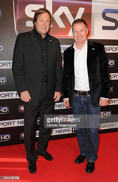 Erich Kuehnhackl and Stefan Reuter attend the Sky Sports News HD Stations Start at the SKY head office on December 01 2011 in Munich Germany