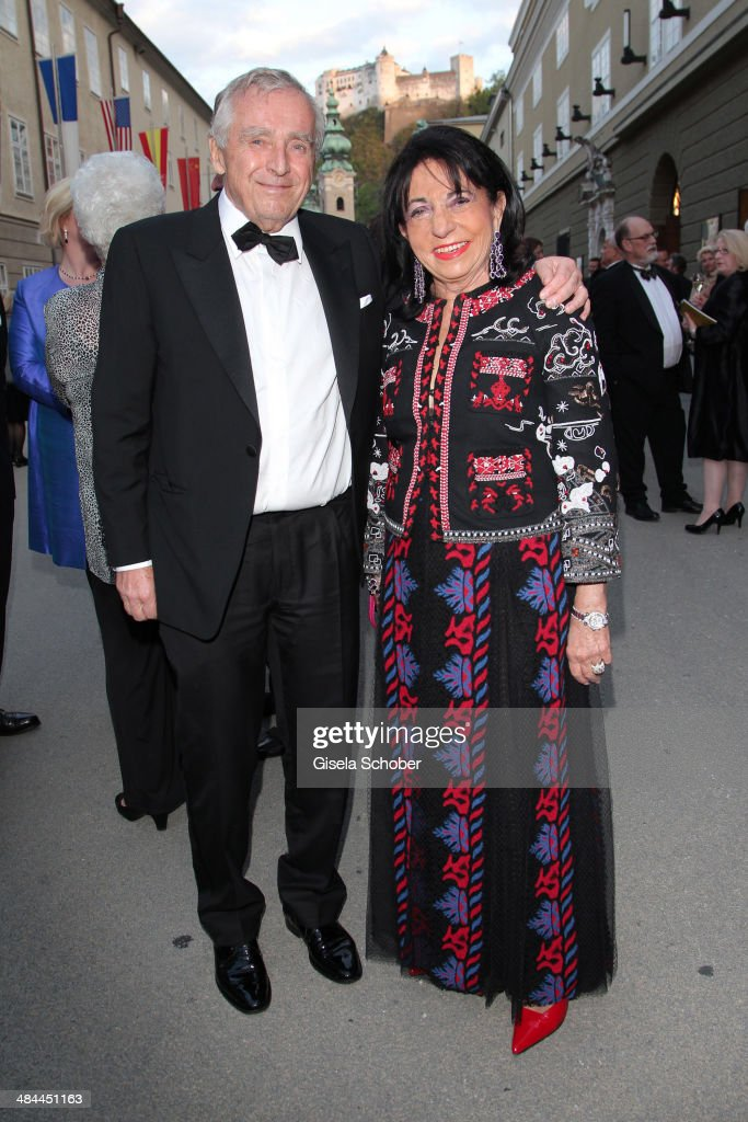 Erich Sixt and his wife Regine Sixt attend the opening of the easter festival 2014 (Osterfestspiele) on April 12, 2014 in Salzburg, Austria.