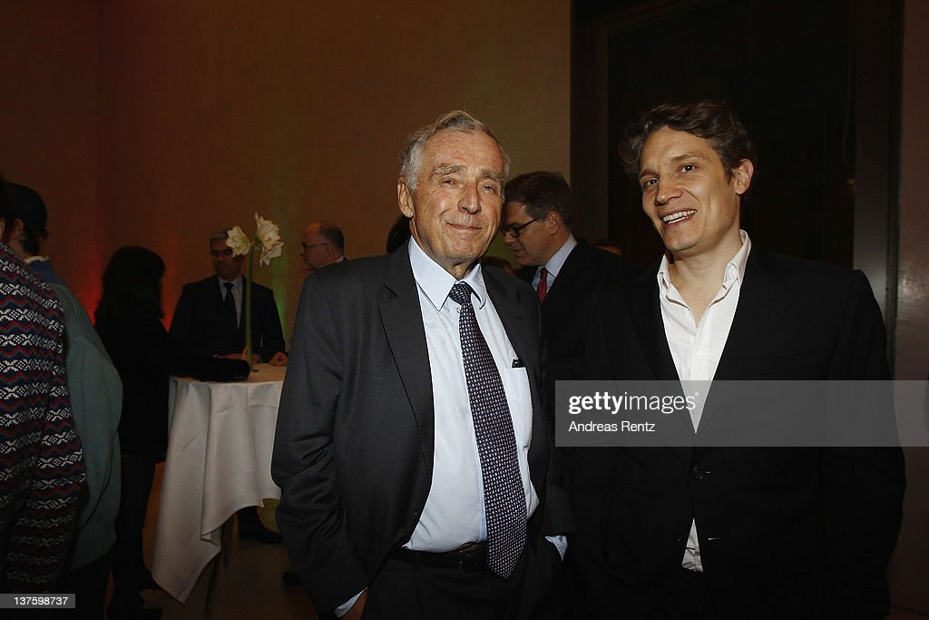 Erich Sixt and Oliver Samwer attend the Chairmen & Speaker Dinner during the DLD Conference 2012 at the Jewish Community Centre on January 22, 2012 in Munich, Germany.