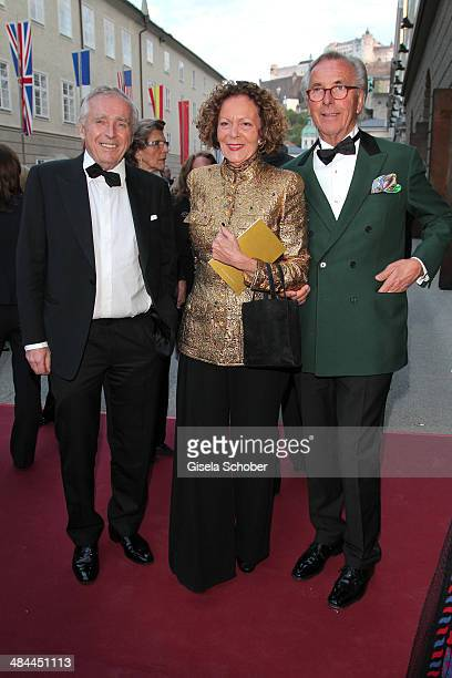 Erich Sixt Marietta Andreae and Hayo F Willms attend the opening of the easter festival 2014 on April 12 2014 in Salzburg Austria
