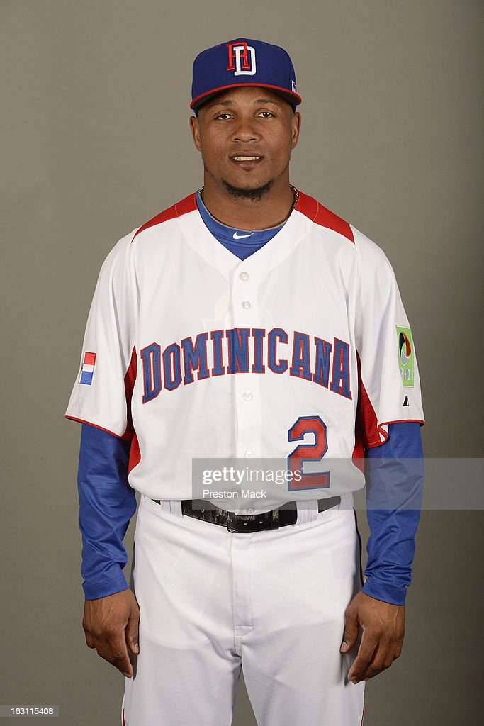 <a gi-track='captionPersonalityLinkClicked' href=/galleries/search?phrase=Erick+Aybar&family=editorial&specificpeople=551376 ng-click='$event.stopPropagation()'>Erick Aybar</a> #2 of Team Dominican Republic poses for a headshot for the 2013 World Baseball Classic on March 4, 2013 at George M. Steinbrenner Field in Tampa, Florida.