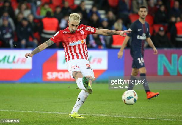 Erick Cabaco Almada of Nancy in action during the French Ligue 1 match between Paris Saint Germain and AS Nancy Lorraine at Parc des Princes stadium...