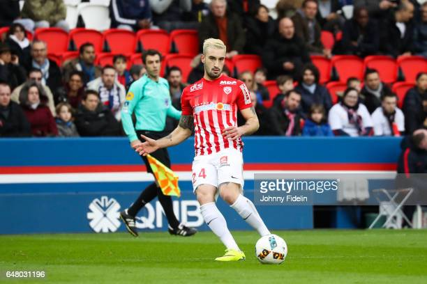 Erick Cabaco of Nancy during the French Ligue 1 match between Paris Saint Germain and Nancy at Parc des Princes on March 4 2017 in Paris France