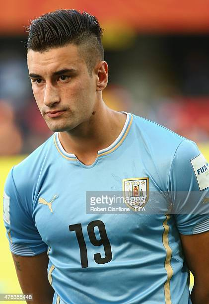 Erick Cabaco of Uruguay is seen prior to the FIFA U20 World Cup New Zealand 2015 Group D match between Uruguay and Serbia at Otago Stadium on May 31...