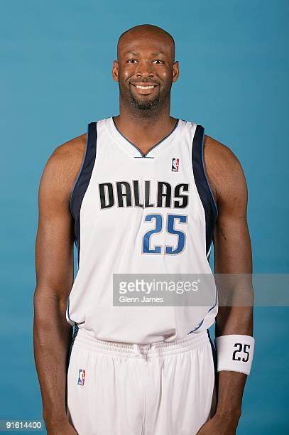 Erick Dampier of the Dallas Mavericks poses for a portrait during 2009 NBA Media Day on September 28 2009 at American Airlines Center in Dallas Texas...