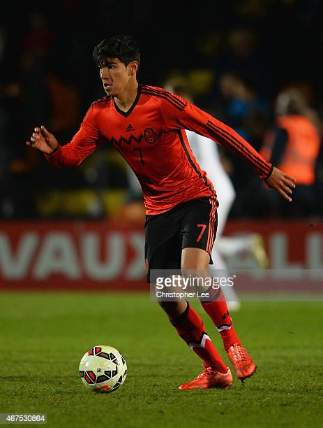 Erick Gabriel Gutierrez Galaviz of Mexico during the U20 International Friendly match between England and Mexico at The Hive on March 25 2015 in...