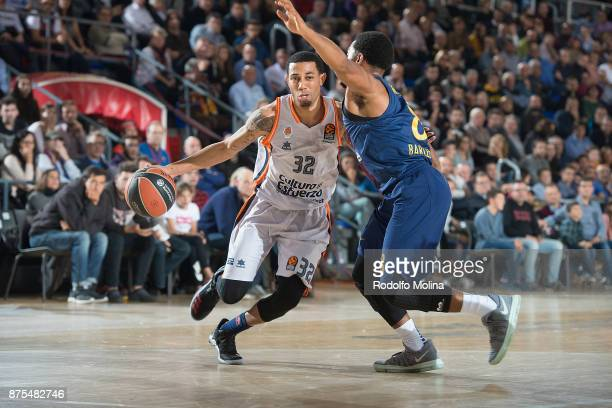 Erick Green #32 of Valencia Basket in action during the 2017/2018 Turkish Airlines EuroLeague Regular Season Round 8 game between FC Barcelona Lassa...
