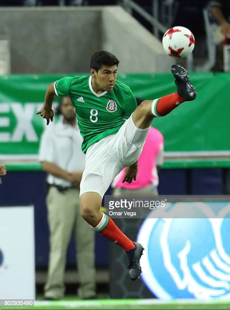 Erick Gutierrez of Mexico controls the ball during the friendly match between Mexico and Ghana at NRG Stadium on June 28 2017 in Houston Texas