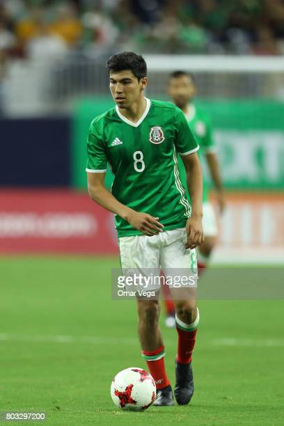 Erick Gutierrez of Mexico drives the ball during the friendly match between Mexico and Ghana at NRG Stadium on June 28 2017 in Houston Texas