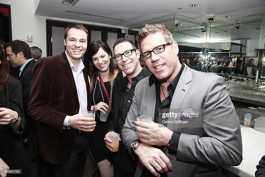 Erick Schwab, Aimee Duell, Dan Goodman and Bill Masterson attend LeBron James, Believe Entertainment Group And Spring Hill Prods. Host All-Star Celebration To Kick Off Season Two Of 'The LeBrons' at Hudson Lounge on February 15, 2013 in Houston, Texas.