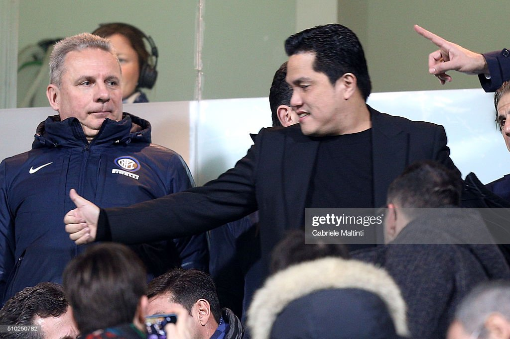 <a gi-track='captionPersonalityLinkClicked' href=/galleries/search?phrase=Erick+Thohir&family=editorial&specificpeople=9531719 ng-click='$event.stopPropagation()'>Erick Thohir</a> president of FC Internazionale Milano during the Serie A match between ACF Fiorentina and FC Internazionale Milano at Stadio Artemio Franchi on February 14, 2016 in Florence, Italy.