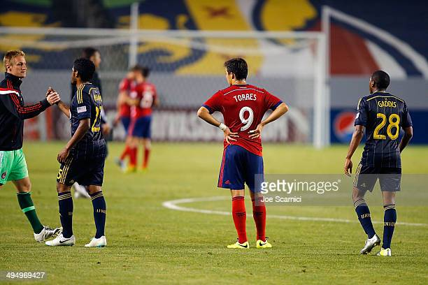 Erick Torres of Chivas USA reacts to losing the match after the second half at StubHub Center on May 31 2014 in Los Angeles California