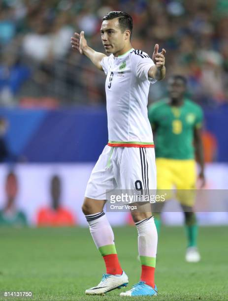 Erick Torres of Mexico reacts during a Group C match between Mexico and Jamaica as part of CONCACAF Gold Cup 2017 at Sports Authority Field on July...