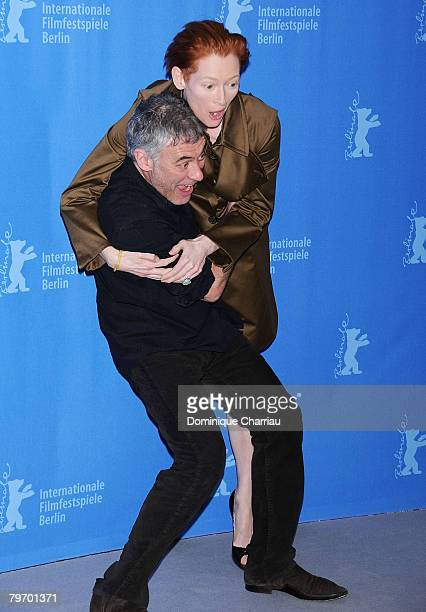 Erick Zonca director and Tilda Swinton attend the 'Julia' photocall during day three of the 58th Berlinale International Film Festival held at the...