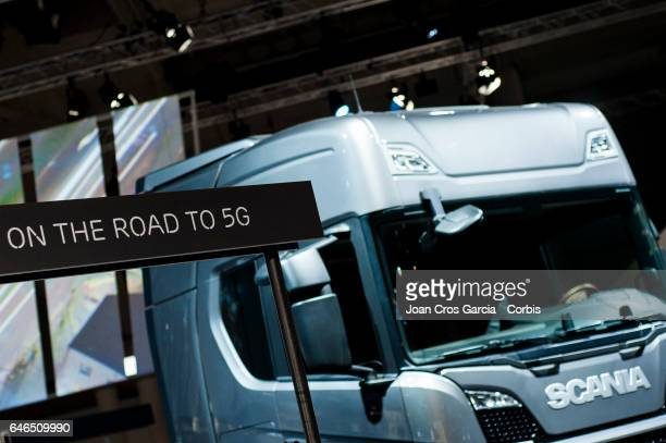 Ericsson display his 5G technology during the Mobile World Congress on February 28 2017 in Barcelona Spain