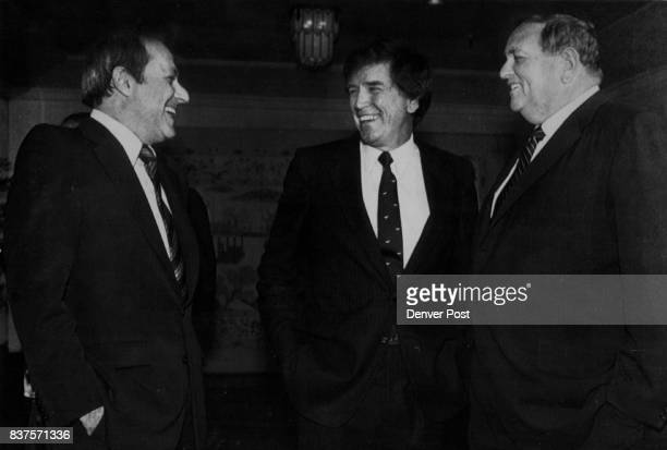 Erik Bakke This photo of Colorado Sen Gary Hart center with Alan Hirschfield left chairman of the board of 20th Century Fox and Marvin Davis is...