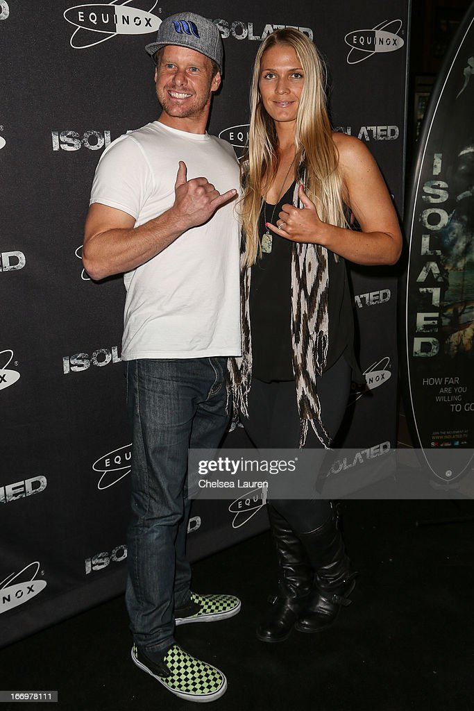 Erik Baldwin (L) and Lauren Tolford arrive at the premiere of 'Isolated' at Equinox Sports Club West LA on April 18, 2013 in Los Angeles, California.