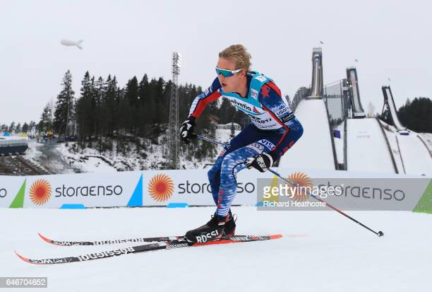 Erik Bjornsen of the United States competes in the Men's 15KM Cross Country during the FIS Nordic World Ski Championships on March 1 2017 in Lahti...