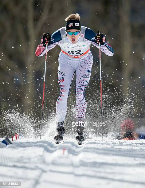 Erik Bjornsen of the United States during Cross Country Men 15 km Sprint Classic on March 08 2016 in Canmore Alberta Canada