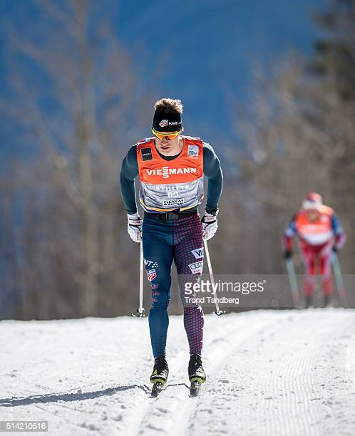 Erik Bjornsen of USA during training Cross Country on March 07 2016 in Canmore Alberta Canada