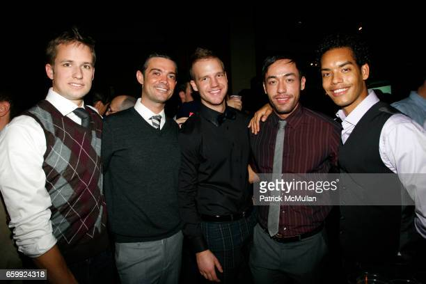 Erik Brottcher Brendan Monaghan Paul Fleming Kenneth Gillett and Jason Haas attend TOYS FOR TOTS 2009 at Chelsea Piers Pier 60 on December 6 2009 in...