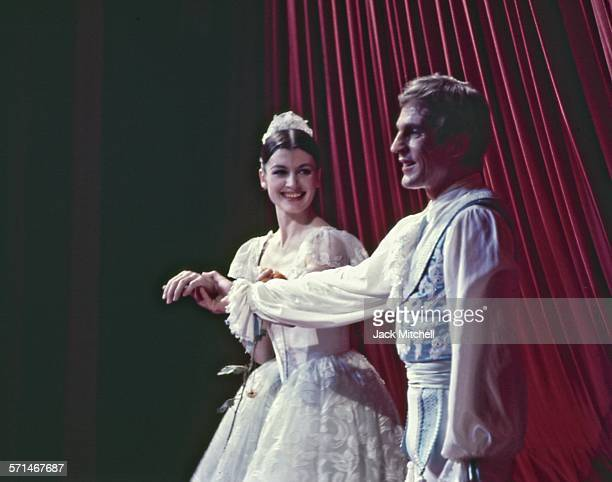 Erik Bruhn and Carla Fracci pderforming American Ballet Theatre's 'Coppelia' in December 1968