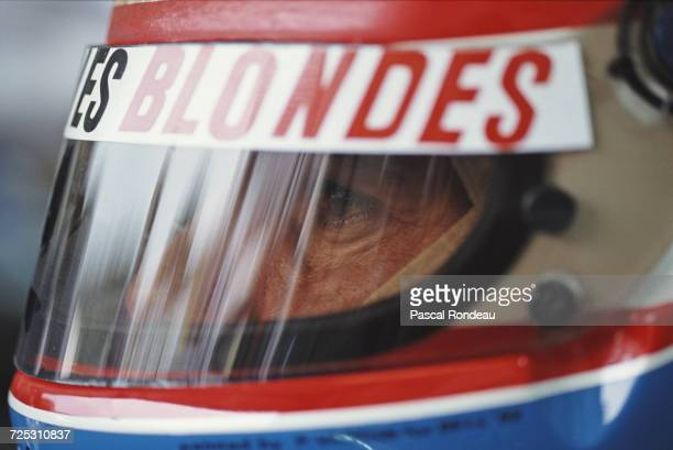 Erik Comas of France driver of the Ligier Gitanes Blondes Ligier JS37 Renault V10 during practice for the Hungarian Grand Prix on 11 August 1992 at...