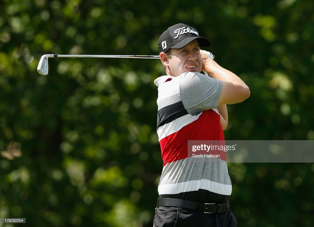 <a gi-track='captionPersonalityLinkClicked' href=/galleries/search?phrase=Erik+Compton&family=editorial&specificpeople=3450396 ng-click='$event.stopPropagation()'>Erik Compton</a> hits a shot during the second round of the Memorial Tournament presented by Nationwide Insurance at Muirfield Village Golf Club on May 31, 2013 in Dublin, Ohio.