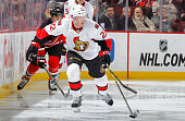 Erik Condra of the Ottawa Senators in action against the New Jersey Devils at the Prudential Center on February 3 2015 in Newark New Jersey The...