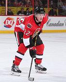 Erik Condra of the Ottawa Senators skates against the Arizona Coyotes at Canadian Tire Centre on January 31 2015 in Ottawa Ontario Canada