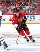 Erik Condra of the Ottawa Senators skates against the Montreal Canadiens in Game Four of the Eastern Conference Quarterfinals during the 2015 NHL...