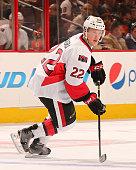 Erik Condra of the Ottawa Senators skates against the Philadelphia Flyers on January 6 2015 at the Wells Fargo Center in Philadelphia Pennsylvania