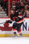 Erik Condra of the Ottawa Senators skates against the the Florida Panthers during an NHL game at Canadian Tire Centre on December 19 2013 in Ottawa...