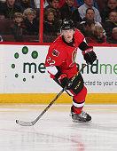 Erik Condra of the Ottawa Senators skates against the Toronto Maple Leafs at Canadian Tire Centre on January 21 2015 in Ottawa Ontario Canada