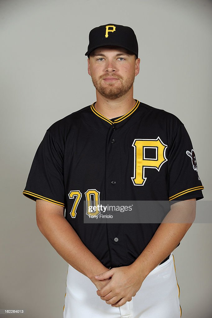Erik Cordier #70 of the Pittsburgh Pirates poses during Photo Day on February 17, 2013 at McKechnie Field in Bradenton, Florida.