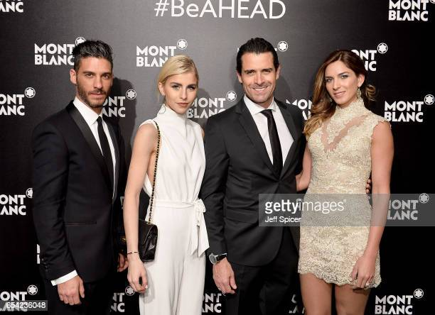 Erik Elias Caro Dauer Rafael Novoa and Adriana Tarud attend the Montblanc Summit launch event at The Ledenhall Building on March 16 2017 in London...