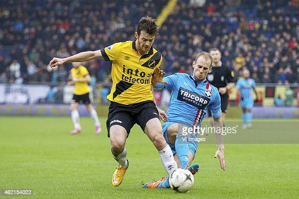 Erik Falkenburg of NAC Breda Frank van der Struijk of Willem II during the Dutch Eredivisie match between NAC Breda and Willem II at the Rat Verlegh...